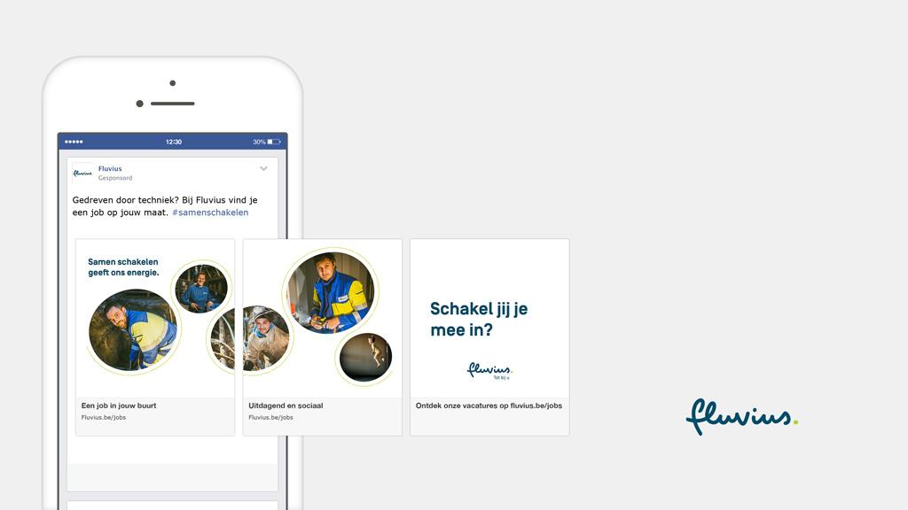 Fluvius facebook campagne